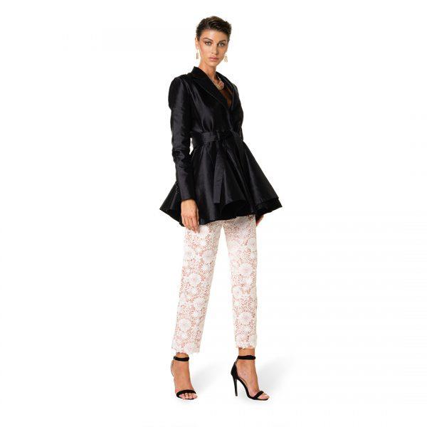giacca-donna-stile-farfalla-mikado-pantalone-raso-e-pizzo-donna-federico-pilia-milano